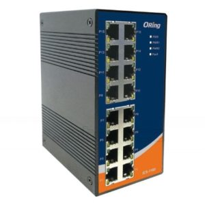 Switch industrial fara management cu 16 porturi Ethernet