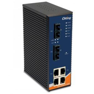IES-2042FX Switch industrial cu lite management cu 6 porturi- 4 Ethernet si 2 fibra optica