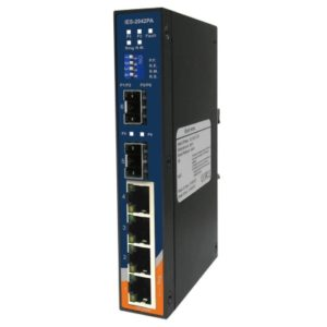 IES-2042PA Switch industrial cu lite management cu 6 porturi- 4 Ethernet si 2 sloturi SFP