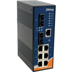 IES-3062FX Switch industrial cu management cu 8 porturi- 6 Ethernet si 2 fibra optica