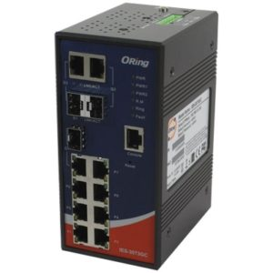 IES-3073GC Switch industrial cu management cu 10 porturi- 7 Ethernet si 3 Combo SFP Gigabit