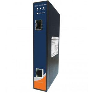 Convertor media industrial de la 1 port Gigabit Ethernet la 1 port Gigabit fibra optica