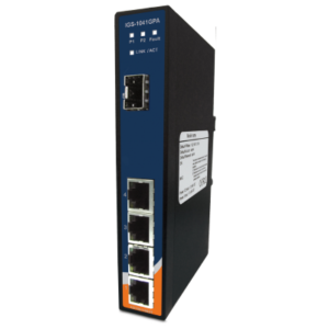 Switch industrial fara management cu 5 porturi- 4 Gigabit Ethernet si 1 slot SFP Gigabit