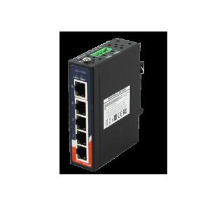 Switch industrial fara management cu 5 porturi Gigabit Ethernet carcasa mini