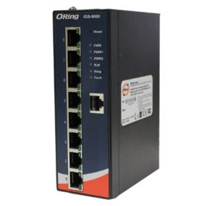 Switch industrial cu management cu 8 porturi Gigabit Ethernet