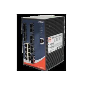 Switch industrial cu management cu 16 porturi- 8 Gigabit Ethernet 4 fibra optica Gigabit si 4 sloturi Gigabit SPF
