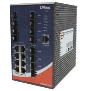Switch industrial LAYER 3 cu 20 porturi- 8 Gigabit Ethernet si 12 sloturi SFP Gigabit