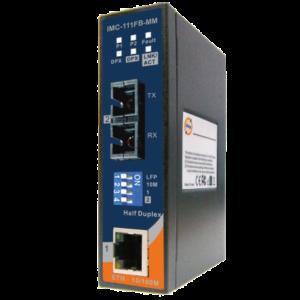 Convertor media industrial de la 1 port Ethernet la 1 port fibra optica