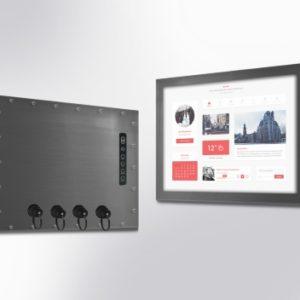 """Monitor industrial cu protectie IP65 sau IP67, dimensiuni 5 pana la 85"""", cu sau fara Touch, cu carcasa completa"""