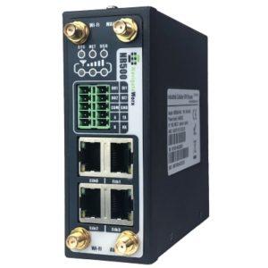 Router celular industrial Dual SIM 3G sau 4G cu VPN 4 porturi Ethernet WiFi 2 porturi seriale DI/DO Modbus si MQTT