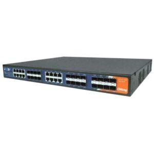 Switch industrial de rack cu management cu 24 porturi- 16 Combo SFP Gigabit si 8 sloturi SFP Gigabit