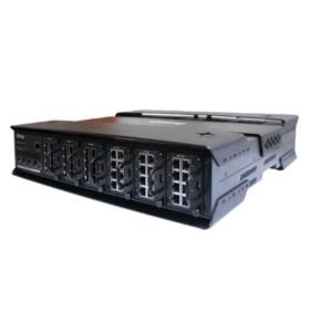 Switch industrial MODULAR de rack LAYER 3 cu 52 porturi- 6 sloturi pt module si 4 sloturi SFP 10G