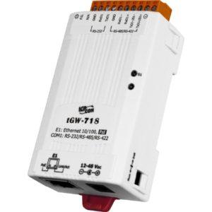 Gateway industrial bidirectional de la Modbus TCP la Modbus RTU sau ASCII cu 1 port serial RS-232/422/485 si 1 port Ethernet cu PoE