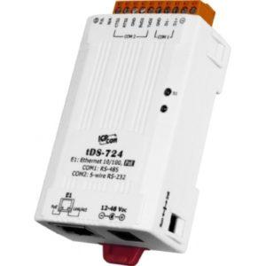 Server serial de la 2 porturi- 1 x RS-232 si 1 x RS-485 la Ethernet cu PoE