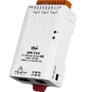 Server serial de la 3 porturi- 2 x RS-232 si 1 x RS-485 la Ethernet cu PoE